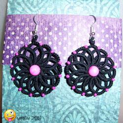 Tatted earrings by tattfae