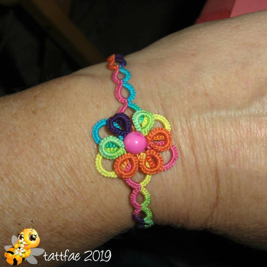 tatted bracelet by tattfae