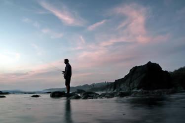Fishing the Sunset by joeross