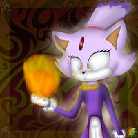 Blaze The Cat #01 by MikaMilaCat
