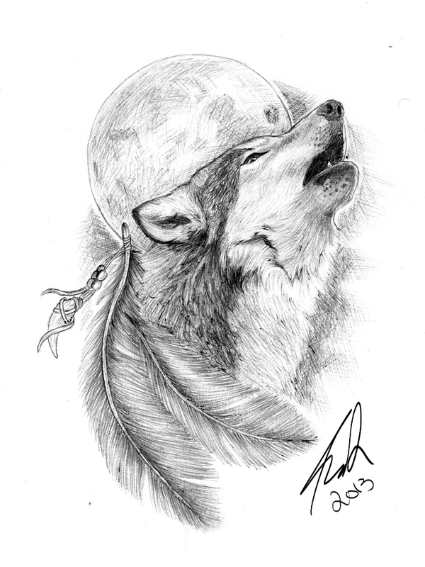 Wolf Tattoo Sketch Wolf Tattoo by Amcdesign