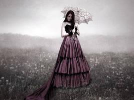 In A Field Of Dandelions by coyotepam