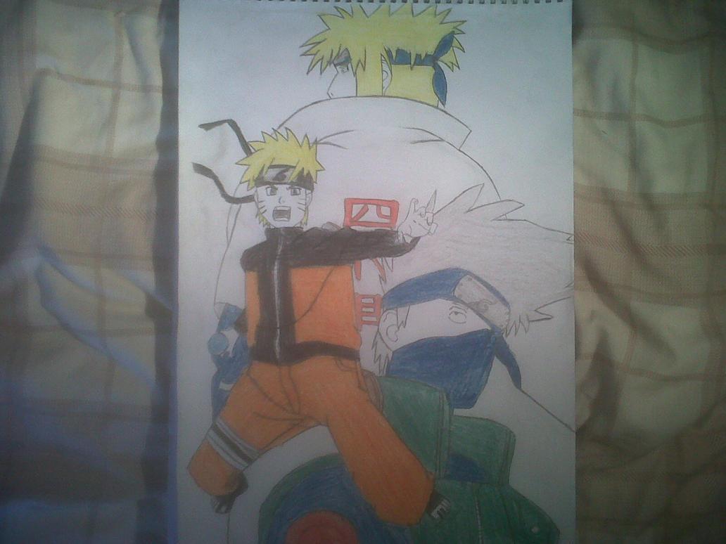Naruto, Minato And Kakashi by CallumOfTheSand