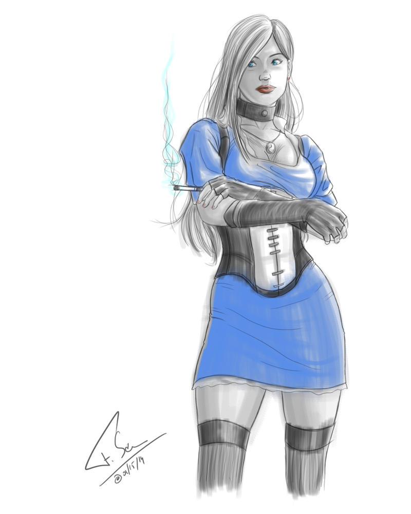 Smoking Alice by Lord-FSan