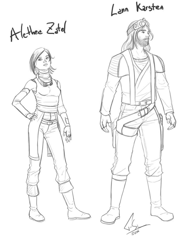 Alethea X Lann Sketch by Lord-FSan
