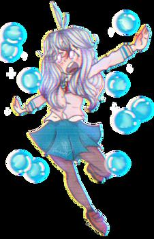Falling bubbles (oc)