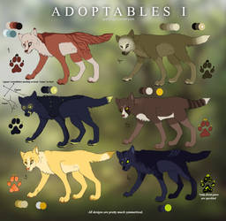 Wolf adoptables I CLOSED by poplet