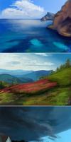 Speed paintings III by poplet