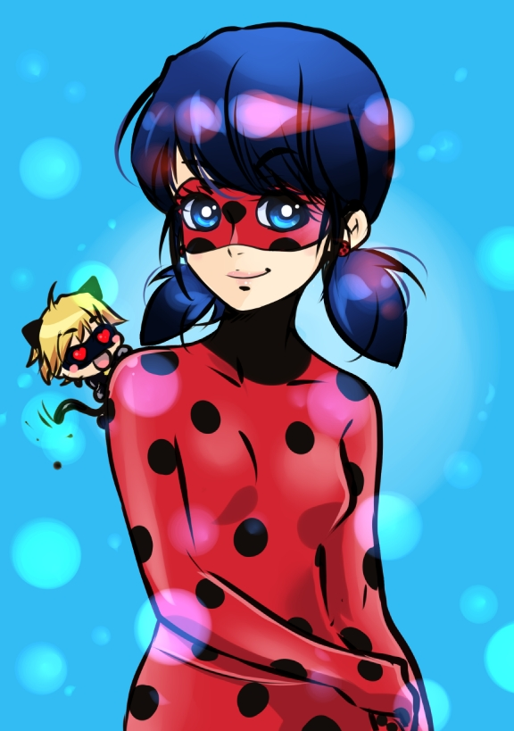 Ladybug and Chibichat by Oroken