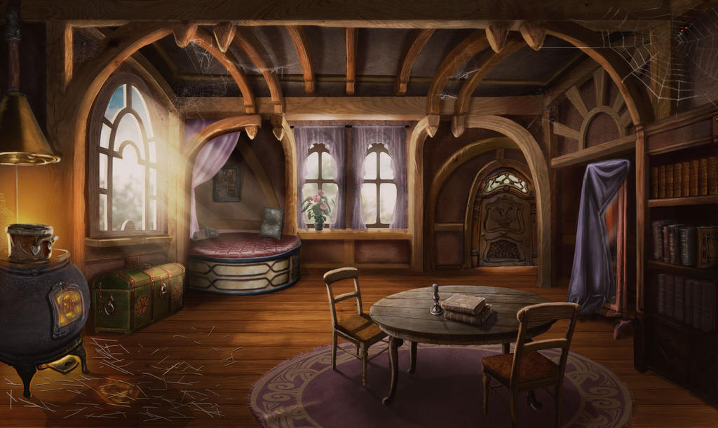 Cottage Interior By Roumko On Deviantart