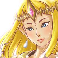 Hyrule Zelda by Fabinne