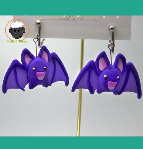 Bat Earrings by Hybrid-Sheep