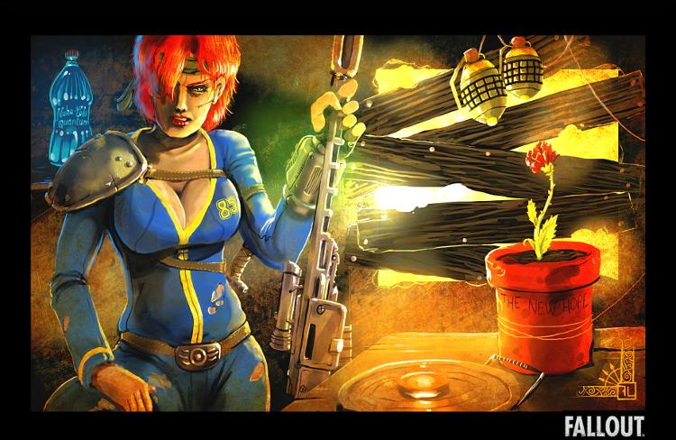 Art Fallout 2014  >> Fallout Fan Art The Trick By Fabricelandais On Deviantart
