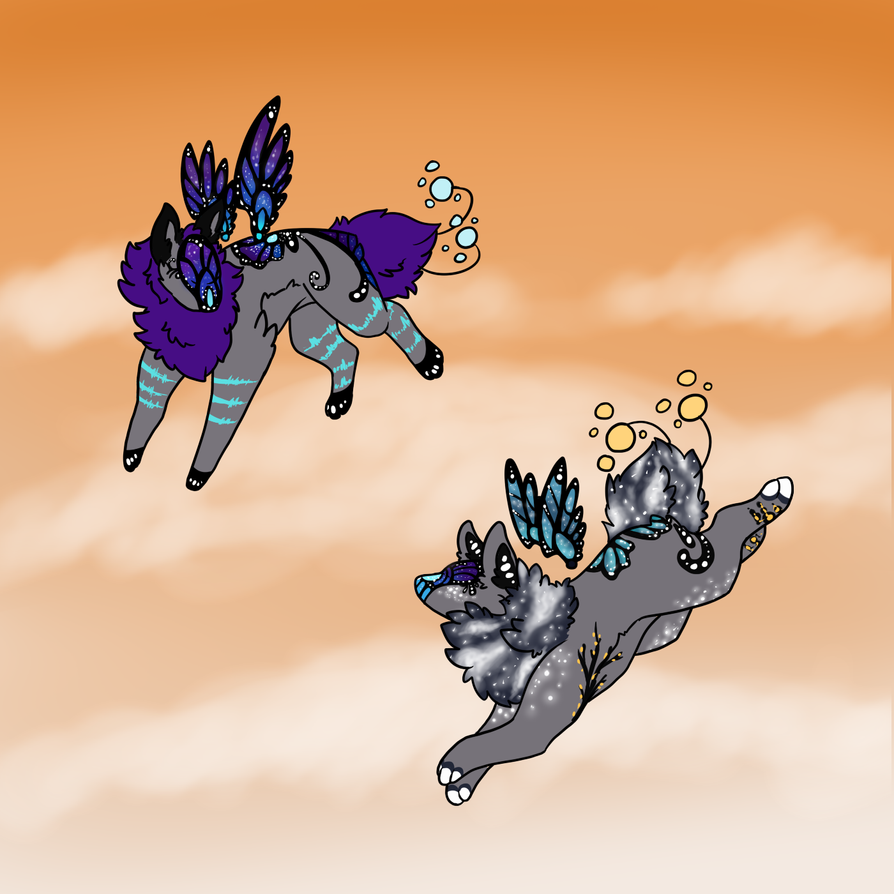 Nova and Glyndwyr by shadowthecat971