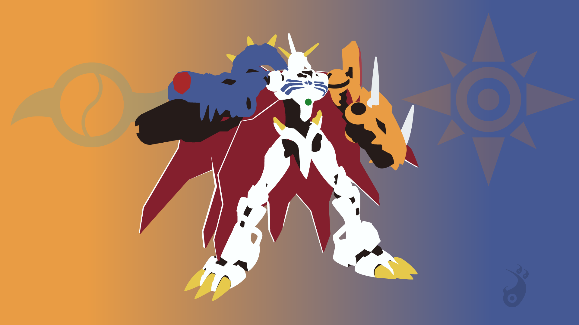 Omegamon Digimon Minimalist by Alimanyador on DeviantArt