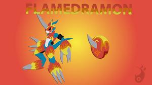 Flamedramon (Digimon) - (3D Minimalist)