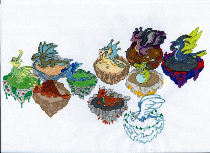 DragonVale Dragons by Sunike
