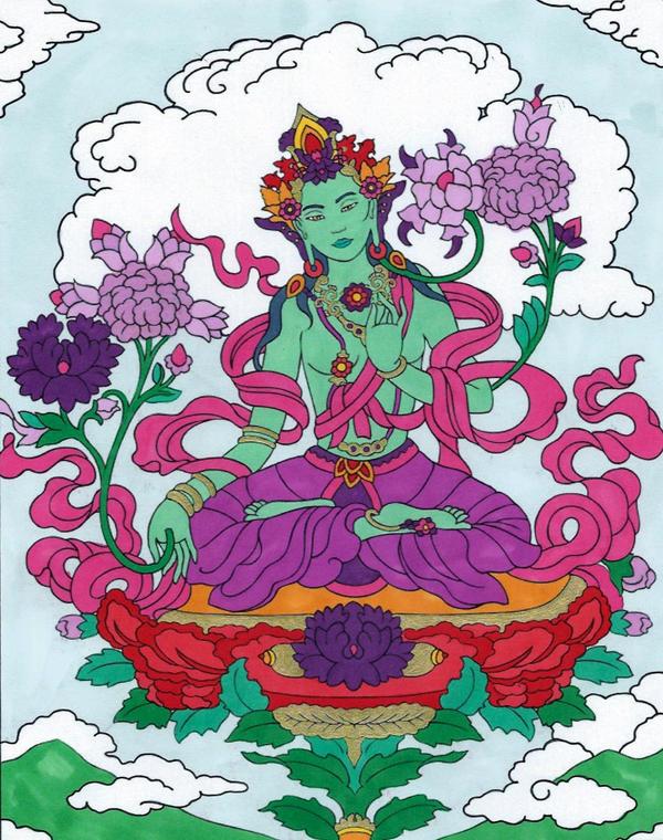 Green Tara by Sunike