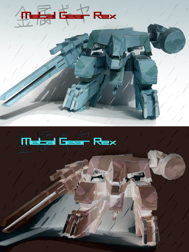 Papercraft Metal Gear Rex by cncplyr