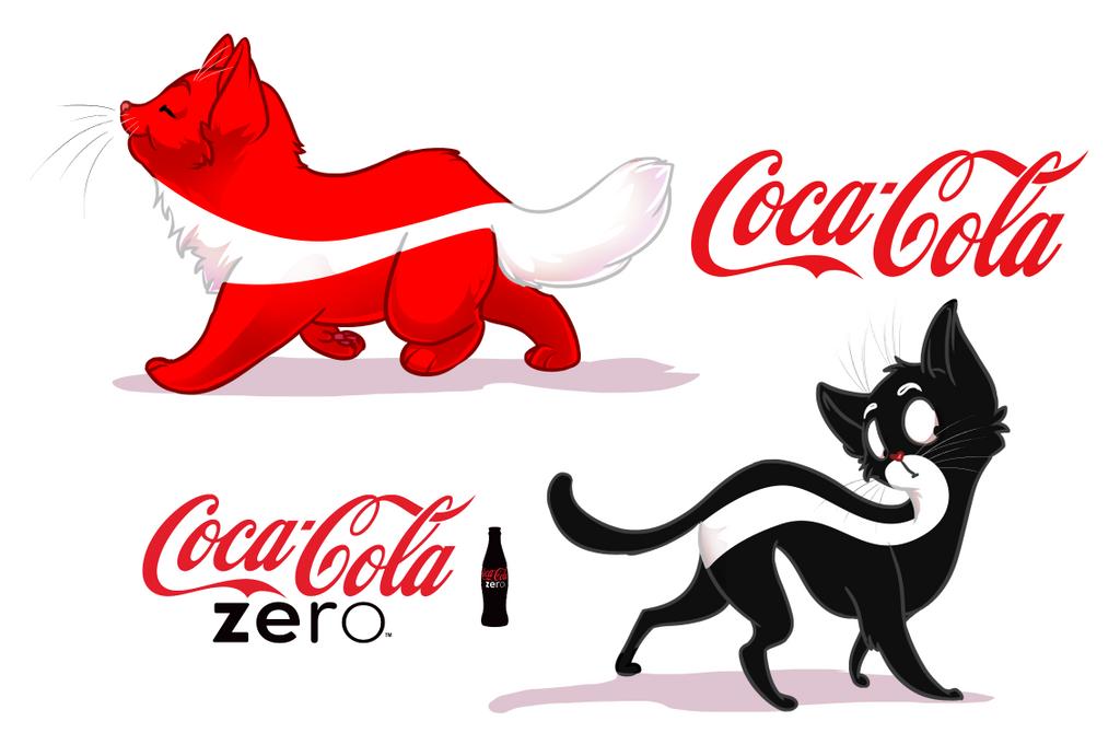 coca-cola original and zero cats by OriginalShaggy