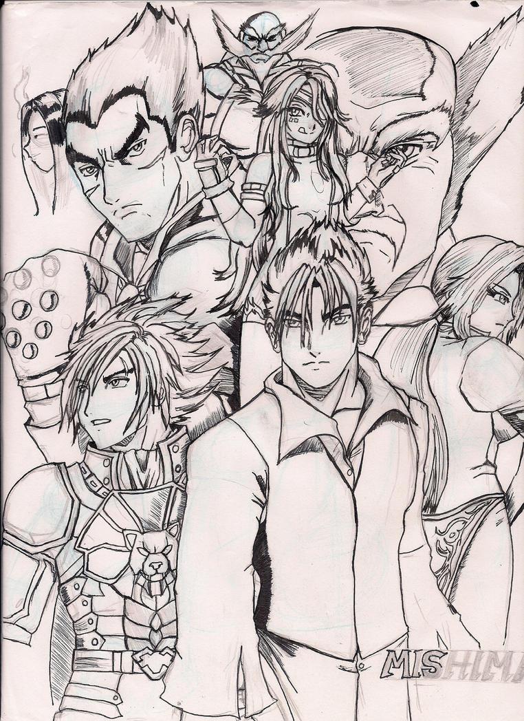 The Mishima Bloodline (Tekken X DOA Style) by BlackReaper7
