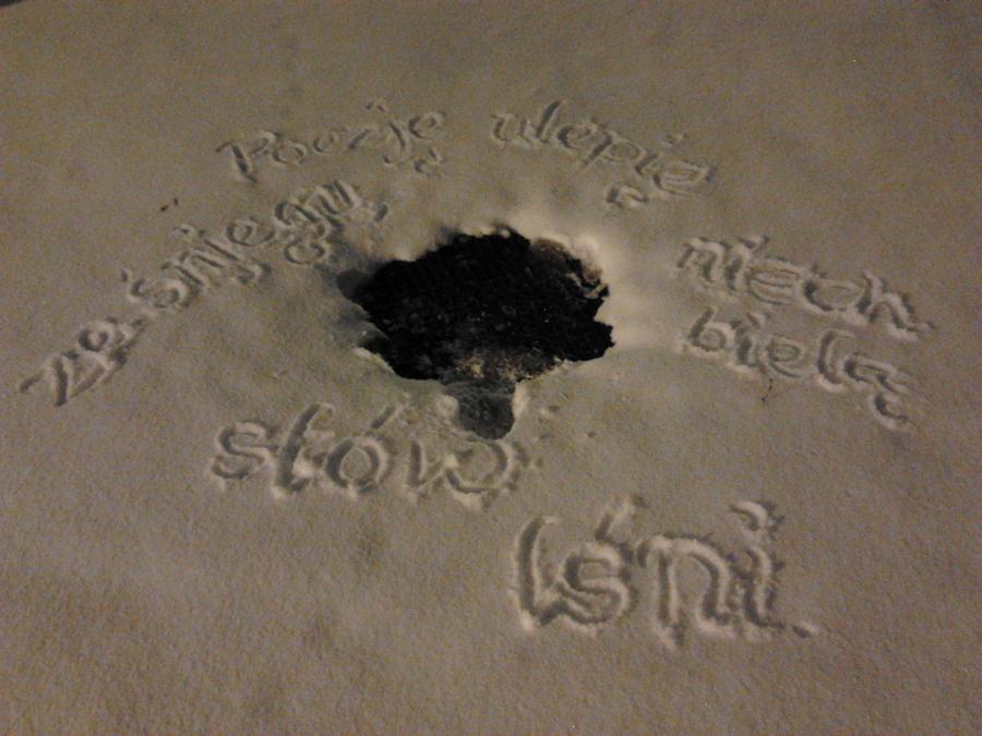 Wiersz ze sniegu by JaBoJa