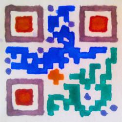 Watercolour QR-code by JaBoJa