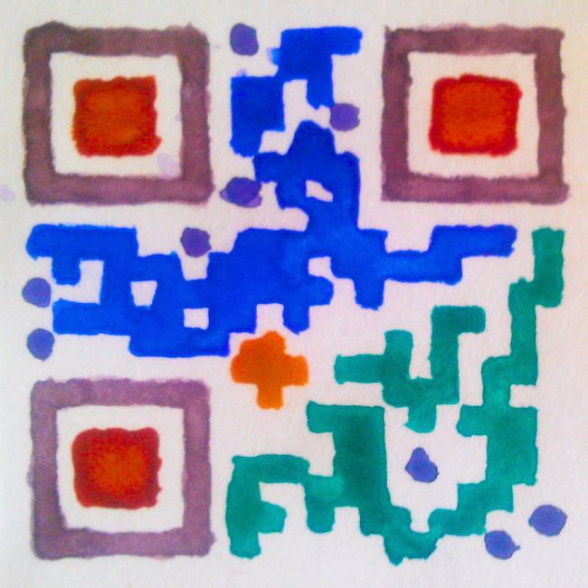 Watercolour QR-code