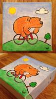 Bear goes biking by bodrington