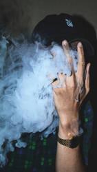 Smoking man wallpaper HQ 4k