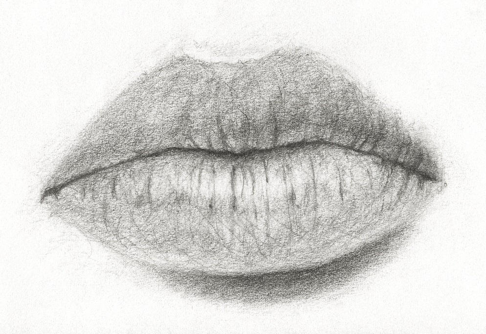 Easy Pencil Sketches Of Lips