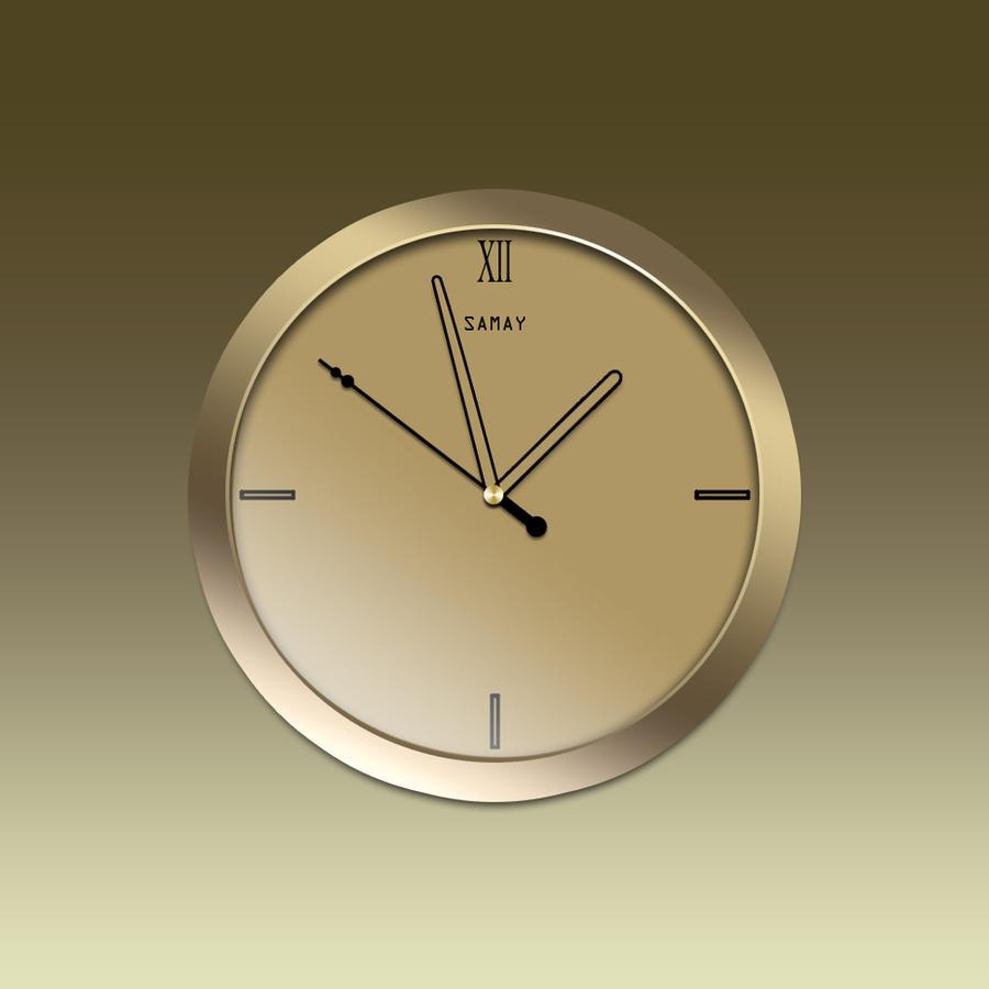 Modern Wall Clock by itzdiby on deviantART