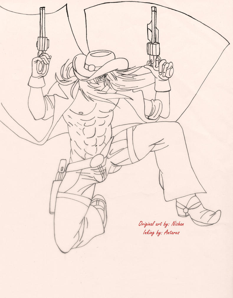 Gunman by Nizhan [Inking by me] by ScorpioNoAntares