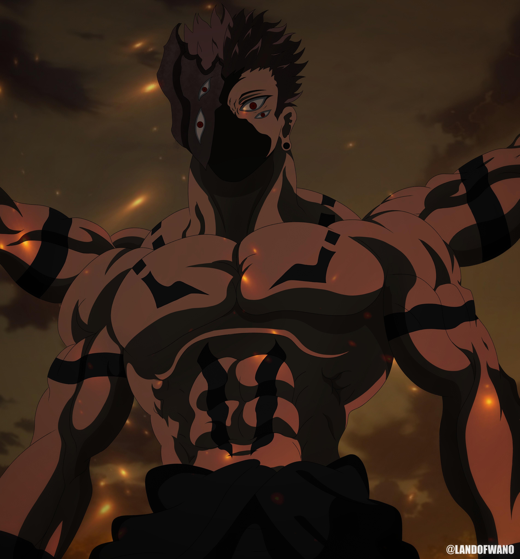 Ryomen Sukuna True Form Jujutsu Kaisen By Landofwano On Deviantart