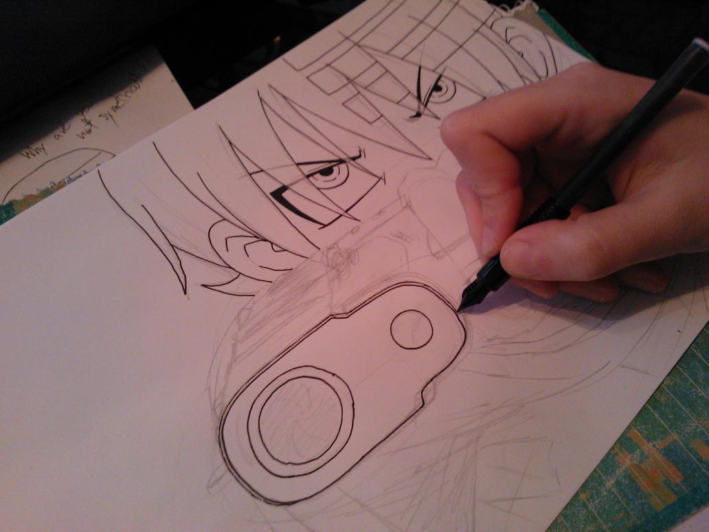 Drawing Death The Kid 2 by Killjoy-Chidori