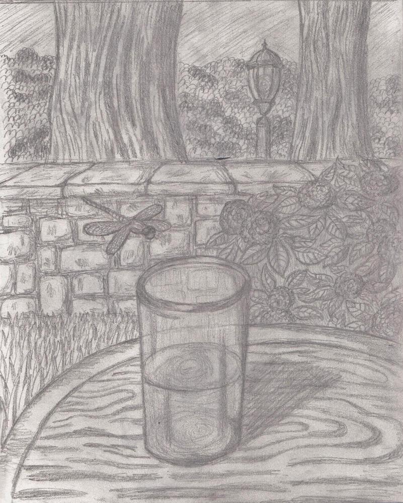 Backyard Sketch by Shadow-and-Espio