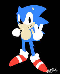 Lineless Sonic by CencanMS
