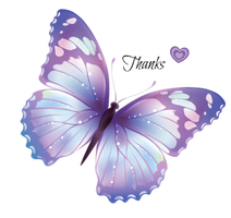 Purple butterfly TH by bast4cats