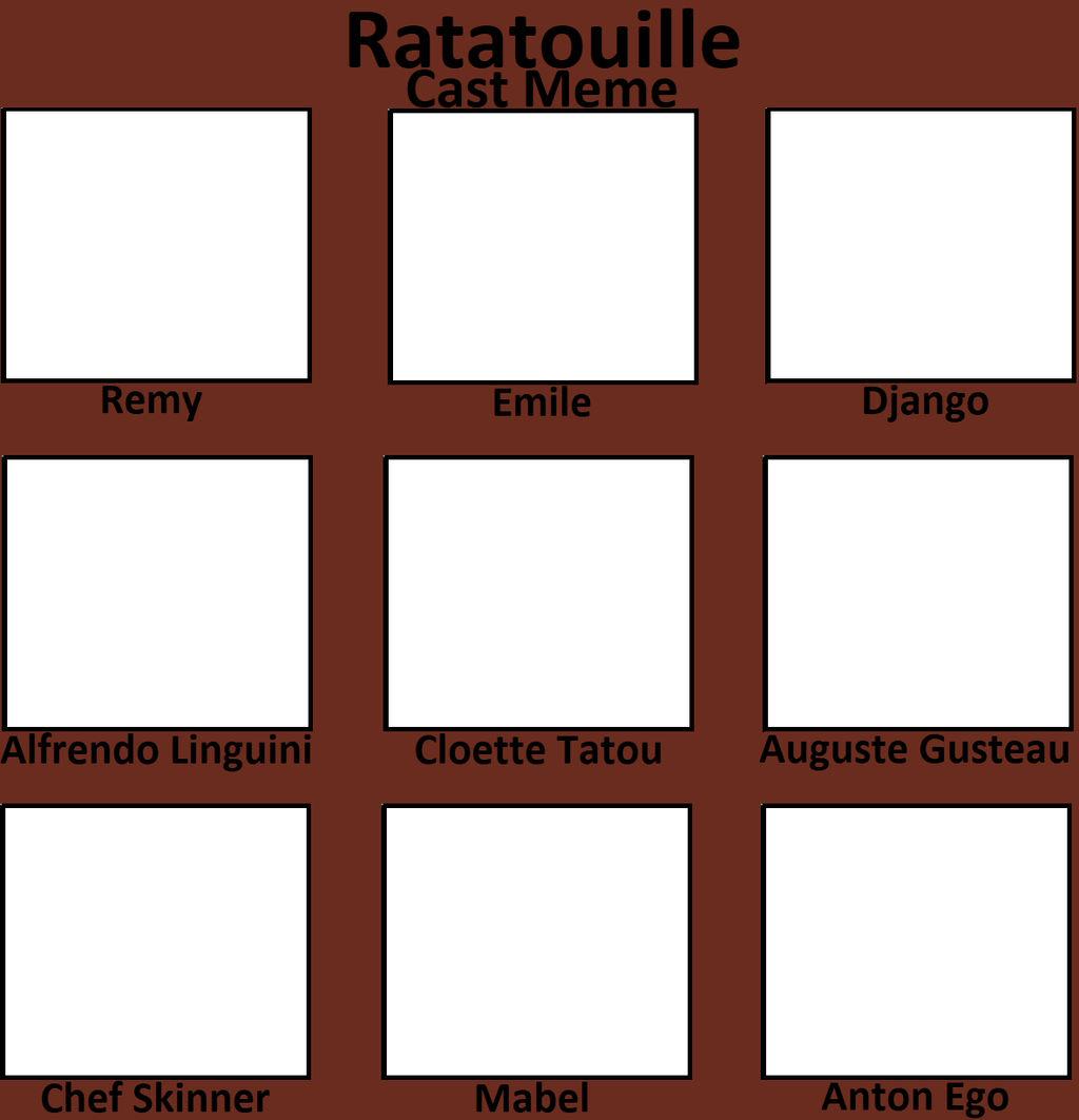 Ratatouille Cast Meme By Blaze On Fire On Deviantart