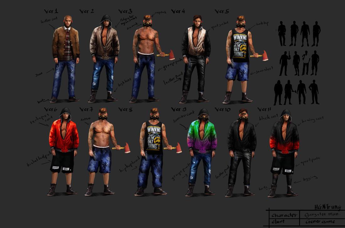 Character Design-Gangster by hgntrung