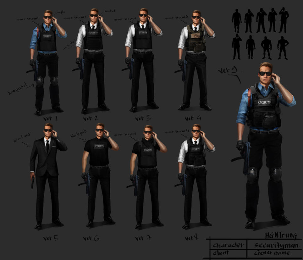 Character Design- Security Man by hgntrung