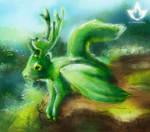 TDC November Green guardian by lutrasilvereye