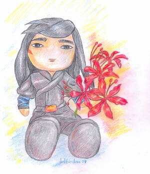 My Plush with Spider Lilies by debbiechan
