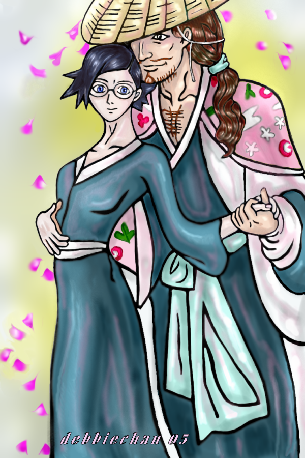 Shunsui and Nanao-chan by debbiechan
