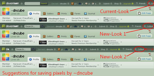 deviantART Header Suggestion by dncube