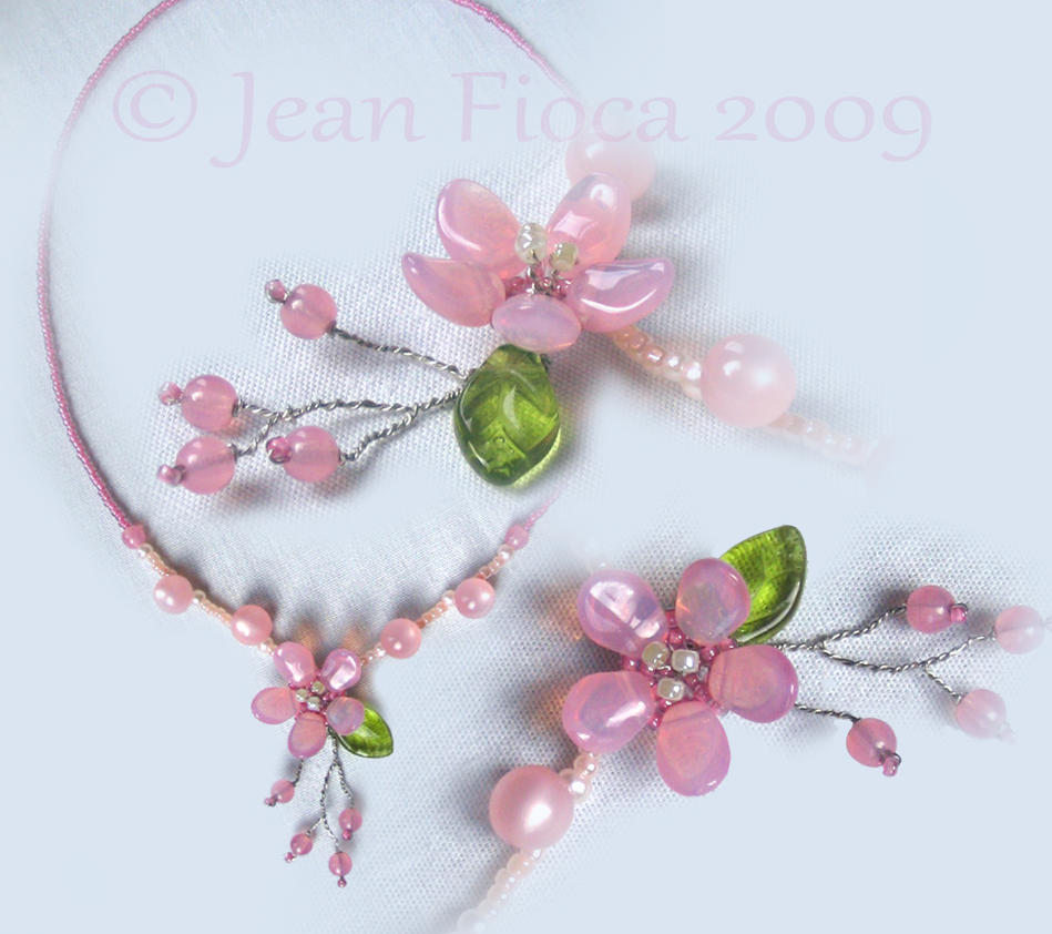 Cherry Blossom + Bud Necklace by HylianJean