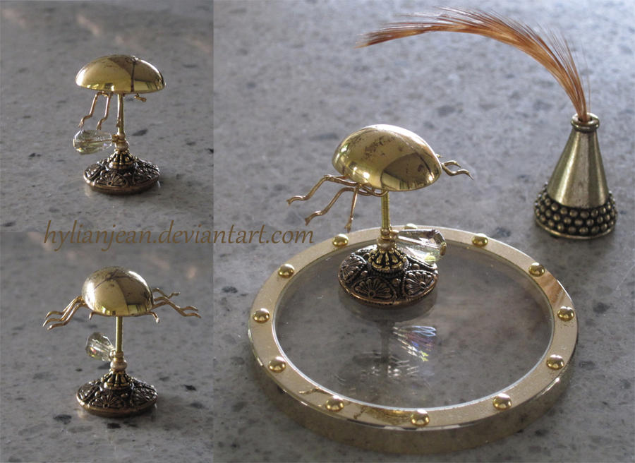 Miniature Riven Beetle Inkwell by HylianJean