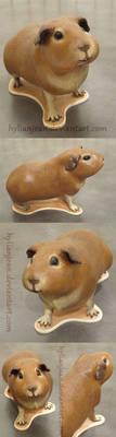Mini Guinea Pig Sculpture by HylianJean