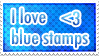 Blue Stamp by SuicidePie