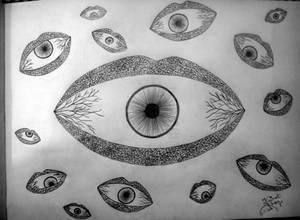 'Eyes mark the shape of the city.'